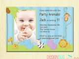 Birthday Invitation Cards for 1 Year Old Boy Baby Boy Baptism Invitation Wording