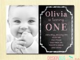 Birthday Invitation Cards for 1 Year Old Free 1st Birthday Girl Invitation Custom Chalkboard Photo