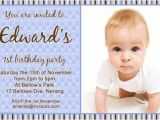 Birthday Invitation Cards for 1 Year Old Free Bday Invitation Card for 1 Year