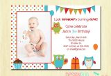 Birthday Invitation Cards for 1 Year Old Twins Owl Birthday Boy Invitation First Birthday 1 2 3