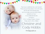 Birthday Invitation Cards for 1 Year Old Twins Twin Birthday Party Invitation Wording Wordings and Messages