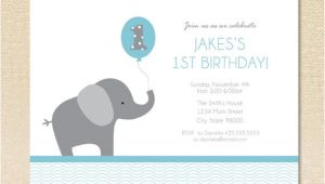 Birthday Invitation Elephant Template Elephant Birthday Invitation Set Of 12