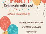 Birthday Invitation format In English Celebrate with Us Birthday Invitation Template Free