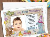 Birthday Invitation Frames 10 Personalised First 1st Birthday Party Frame Photo