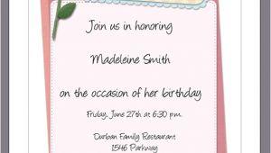 Birthday Invitation Letter format In Word Sample Birthday Invitation Template 40 Documents In Pdf
