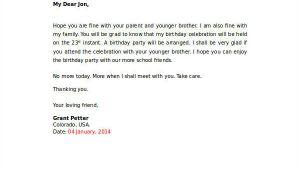 Birthday Invitation Letter Samples 35 Sample Invitation Letters Pdf Word Apple Pages