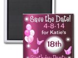 Birthday Invitation Magnets Ladies Birthday Invitation Magnet Fridge Magnet Zazzle
