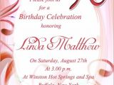 Birthday Invitation Message 90th Birthday Invitation Wording 365greetings