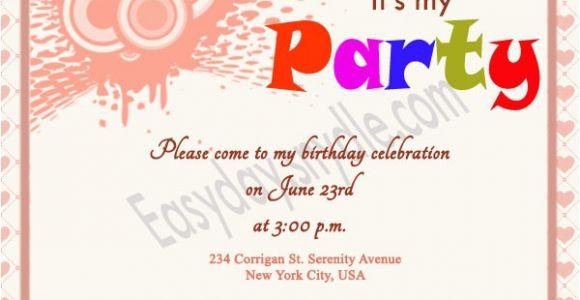 Birthday Invitation Message Birthday Invitation Wording Easyday