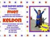 Birthday Invitation Message for Whatsapp Superhero Birthday Invitation Wording