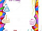 Birthday Invitation Photo Frames Birthday Border Royalty Free Stock Photography Image 213827