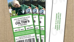 Birthday Invitation soccer Template soccer Birthday Game Ticket Invitation Digital File