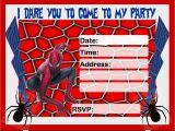 Birthday Invitation Spiderman theme Birthday Invitation Free Printable Spiderman Spiderman