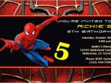Birthday Invitation Spiderman theme Spiderman Invitations General Prints