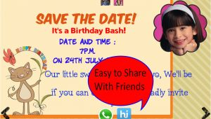 Birthday Invitation Template App Birthday Invitation with Photo android Apps On Google Play