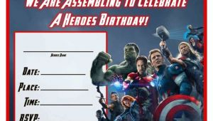 Birthday Invitation Template Avengers Free Avengers Age Of Ultron Printable Birthday Invitation