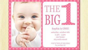 Birthday Invitation Template Baby Girl Free Printable 1st Birthday Invitation Template In 2019