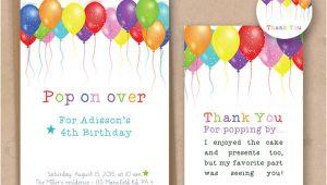 Birthday Invitation Template Balloons 30 Beautiful Kids Birthday Invitations Psd Eps Ai