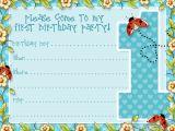 Birthday Invitation Template Boy Boys Printable Party Kits