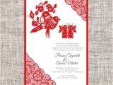 Birthday Invitation Template Chinese Diy Printable Editable Chinese Wedding Invitation Card