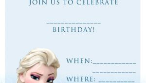 Birthday Invitation Template Frozen Birthday Disney Frozen Blank Birthday Party Invitation