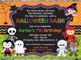 Birthday Invitation Template Halloween Halloween Birthday Invitation Printable Kids Halloween Party