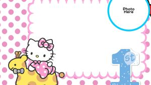 Birthday Invitation Template Hello Kitty Free Hello Kitty 1st Birthday Invitation Template Free