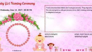 Birthday Invitation Template In Kannada Create and Download A Indian Naming Ceremony Namakaran