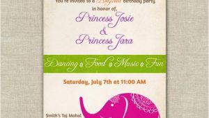 Birthday Invitation Template India Items Similar to Bollywood themed Birthday Party