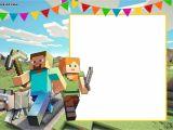 Birthday Invitation Template Minecraft Free Printable Minecraft Birthday Invitation Template