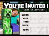 Birthday Invitation Template Minecraft Friendly Minecraft Invitation Printable Experience Of A