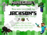 Birthday Invitation Template Minecraft Minecraft Invitation Templates