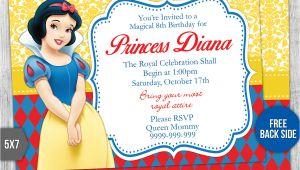 Birthday Invitation Template Snow White Snow White Birthday Invitation Template 3 by