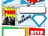 Birthday Invitation Template Superhero 12 Blank Superhero Birthday Free Printable Birthday