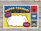 Birthday Invitation Template Superhero 12 Blank Superhero Birthday Invitations Drevio