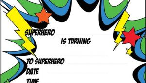 Birthday Invitation Template Superhero 12 Blank Superhero Birthday Invitations Free Invitation