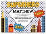 Birthday Invitation Template Superhero 30 Superhero Birthday Invitation Templates Psd Ai