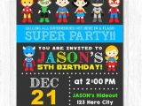 Birthday Invitation Template Superhero Superhero Birthday Invitation Superhero Boy Invitation