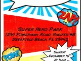 Birthday Invitation Template Superhero Superhero Birthday Invitation Template