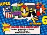Birthday Invitation Template Superhero Superhero Birthday Invitation Templates Cloudinvitation Com