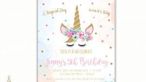 Birthday Invitation Template Unicorn Unicorn Face Invitations Unicorn Birthday Invitation Unicorn