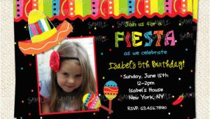Birthday Invitation Template with Photo Mexican Fiesta Photo Birthday Invitation