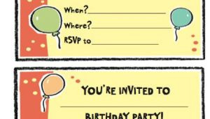 Birthday Invitation Template Xls Free Birthday Party Invitation Templates Word Pdf