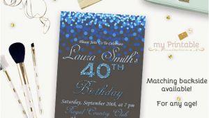 Birthday Invitation Templates Digital 16 40th Birthday Invitations Psd Vector Eps Ai Free