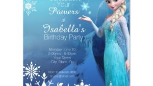 Birthday Invitation Templates Elsa Frozen Elsa Birthday Party Invitation Zazzle Com