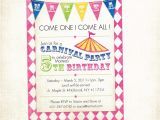 Birthday Invitation with Dress Code Free Printable Carnival Birthday Party Invitations