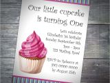 Birthday Invitation with Dress Code Kids Cupcake Party
