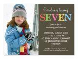 Birthday Invitation Wording for 7 Year Old Boy 7th Birthday Party Invitation Wording