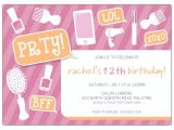 Birthday Invitation Wording for Teenage Party Girly Party Tween Birthday Party Invitations Paperstyle