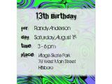 Birthday Invitation Wording for Teenage Party Teen Boys Birthday Party Invitations Green Card Zazzle Com